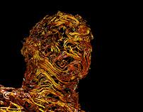 Human Head - 3D Curl noise Houdini