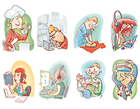 Illustrations for Pirkka magazine