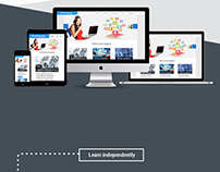 E - Learning Web based Responsive UI