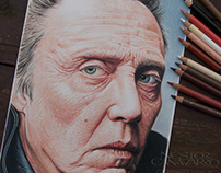 Christopher Walken - Color Pencils -