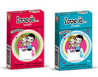 Love is... Gum box and dragee Illustration