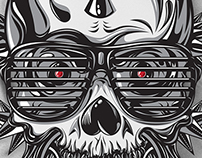 Mohawk Skull / Vector Illustration.