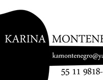 Graphic art for KARINA MONTENEGRO (oct/2011)