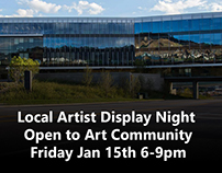 Local Artist Display Night - Open to Art Community
