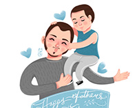 Father's Day illustration 2018