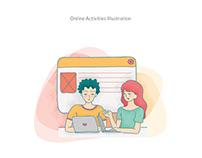 Illustration for Online-Offline Activities