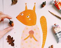 Дружеское чаепитие / squirrel