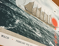 Wilco Ship In A Bottle Screen Printed Poster