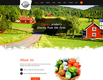 The Farm House - Onepage Organic Products PSD Template