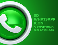 3D WhatsApp Icon - FREE DOWNLOAD