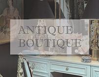 Modernism website layout - Antique Boutique