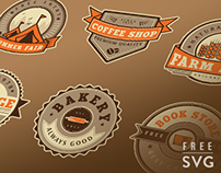 Free Vintage Badge Set Vector