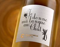 """Je donne ma langue au Chat"" Wine Label"