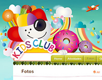 KidsClub - Site e Material de E-mail Marketing