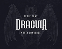'DRACULA' Multi Language Serif Font