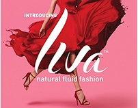 LIVA FLUID FABRIC- NEW LOGO DESIGN AND LAUNCH ADS