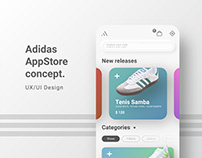 Adidas AppStore Concept.