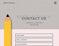 Simple contact form design.
