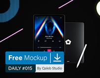 Free Neon iPad Pro MockUp