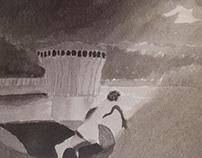Zicht op het meer van gilleppe