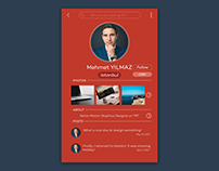 #DailyUI Challenge Day #006 - User Profile Design