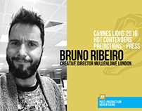 Bruno Ribeiro - Predictions Cannes 2016 - Press
