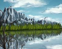 Reflections, digital painting, iPadArt