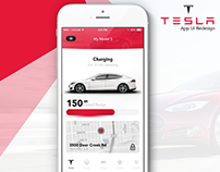 Tesla App UI Redesign