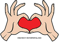 Love sign vector image.