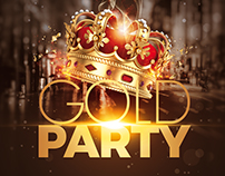 Gold Party Flyer | Special Birthday