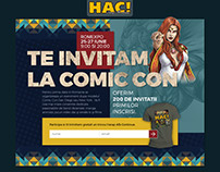 Landing page design / comics magazine