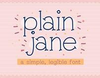 Free* Plain Jane Font