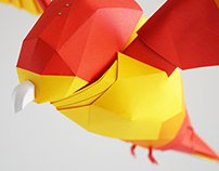 Uncaged : Paper installation for Telstra