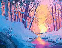 Winter. Digital painting