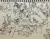 Sketchbook 5: Farmers' Market in China