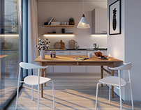 Interior visualizations. Residential project in Oslo.
