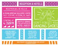 Wedding invite layout