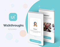 Material Design UI KIT - Walkthroughs