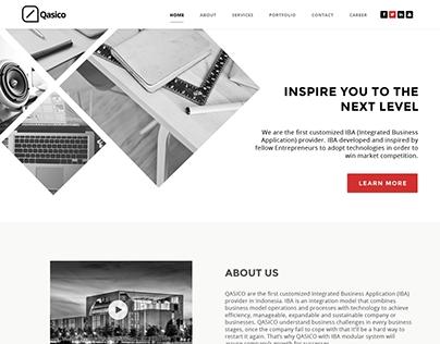 Qasico website redesign.
