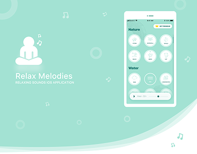 Relax Melodies. iOS Relax sound app design