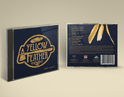 Yellow Feather Logo and Album Design