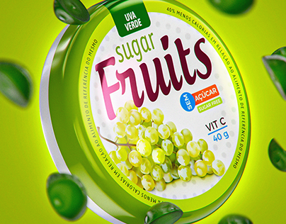 3D Packshot Sugar Fruits