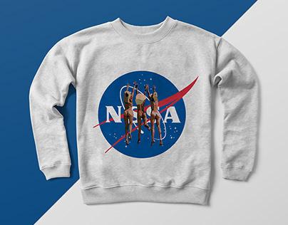 Logo NASA+ilustração da Fotografia de Salvador Dali