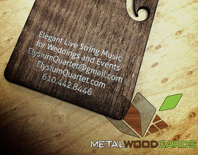 Wood Business Card With Cutouts