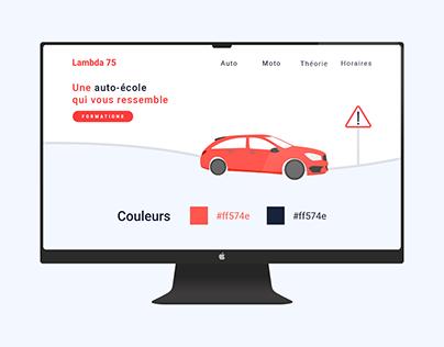 Auto-École Lambda 75 - Création du site web