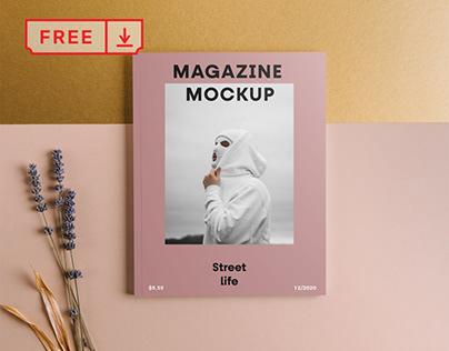 Free Magazine Front Cover Mockup