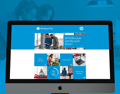 HP ProRewards Portal - UI UX Design