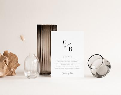 Wedding identity