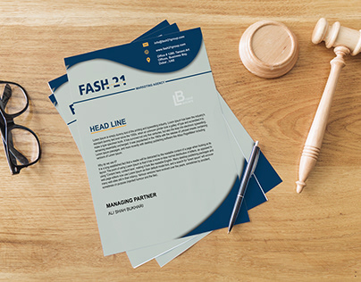 Letterhead designs for different companies.