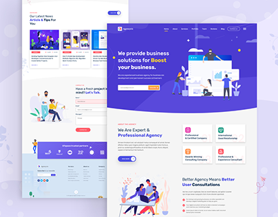 Agencynix - Creative Startup Agency Website Template
